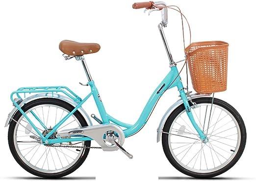 Paseo Bicicleta Unisex Bicicleta Portátil De Una Sola Velocidad De ...