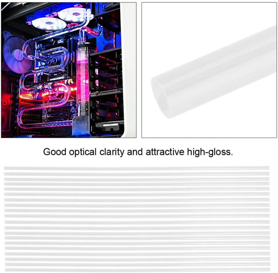 01 Bicaquu 1000MM 10x14MM Colorful Rigid Acrylic Water Cooling Tubes Fitting for Computer