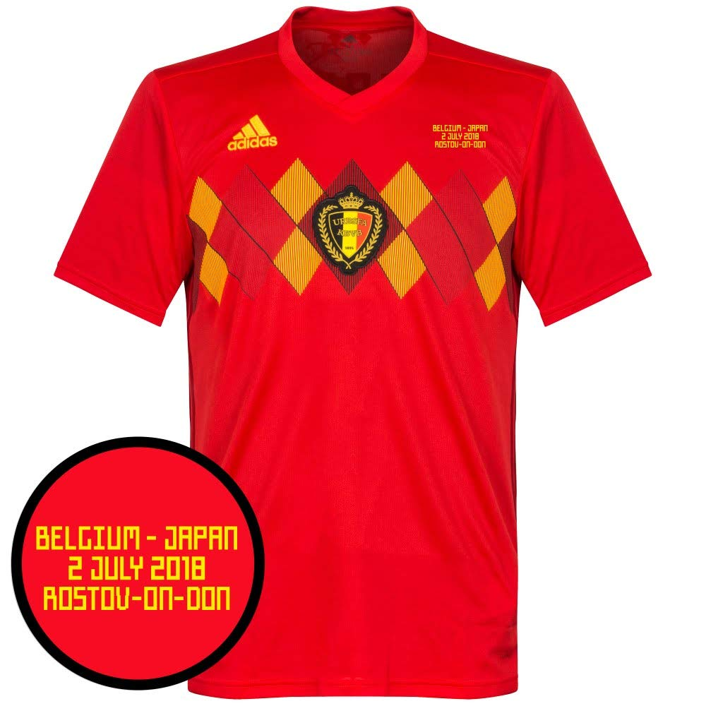 Belgien Home Trikot 2018 2019 inkl vs Japan WM Druck