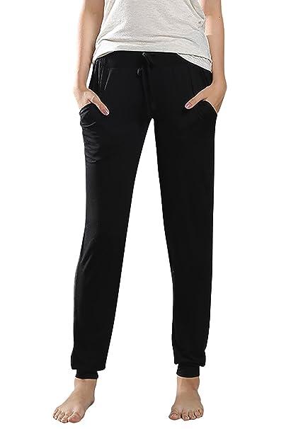 Dolamen Mujer Pantalones de Pijama Algodón Modal, Pantalones ...