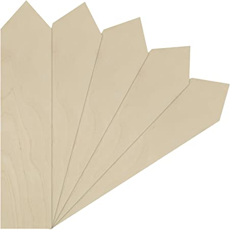 20 Stück Rechteck unlackiert Holz Board Zeichen Plaque Handwerk DIY