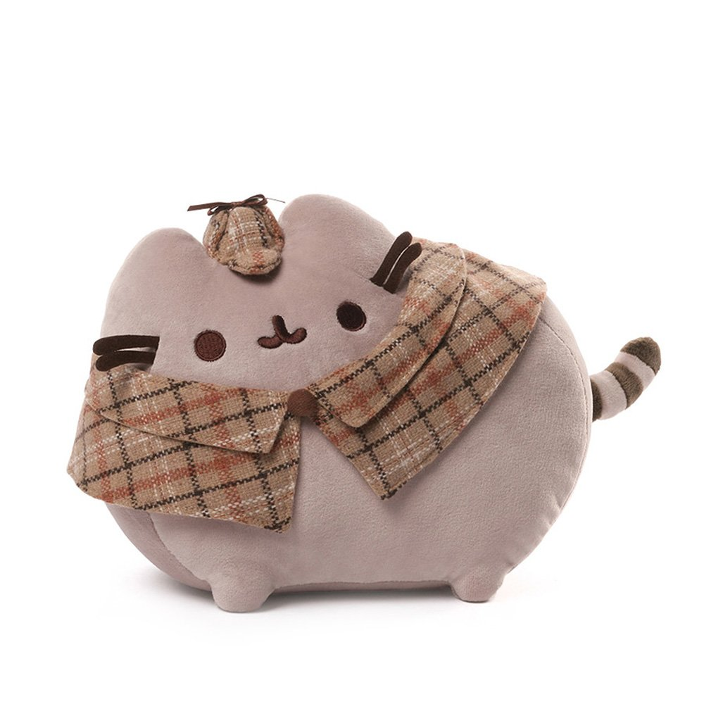 GUND Pusheen Detective Cat Plush Stuffed Animal, Gray, 12.5'' by GUND