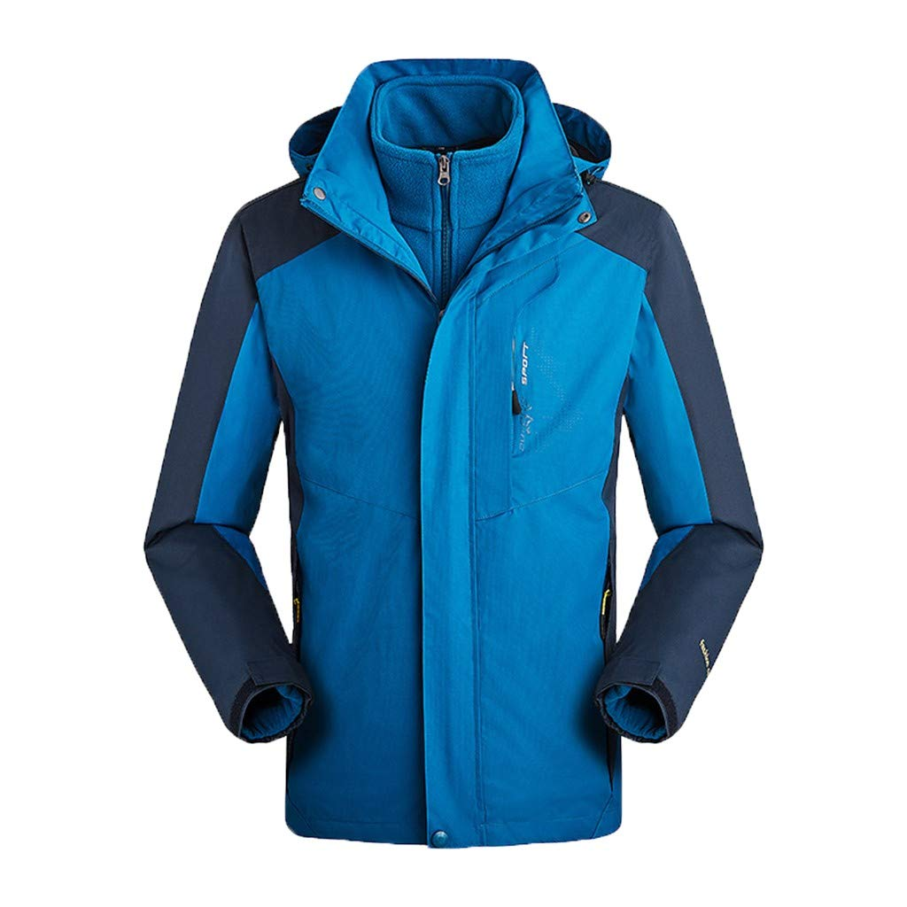 Kauneus  Women and Mens Ski Jacket 3-in-1 Waterproof Windproof Warm Winter Shell with Detachable Hood and Fleece Liner by Kauneus Women Clothing