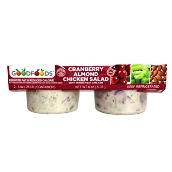 Good Foods Cranberry Almond Single Serve Chicken Salad 2 Pk 8 Oz