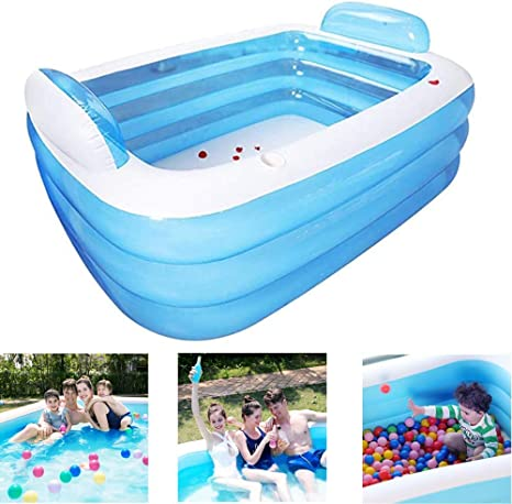 Unknow Piscina Cuadrada Inflable Piscina Inflable Plegable de ...