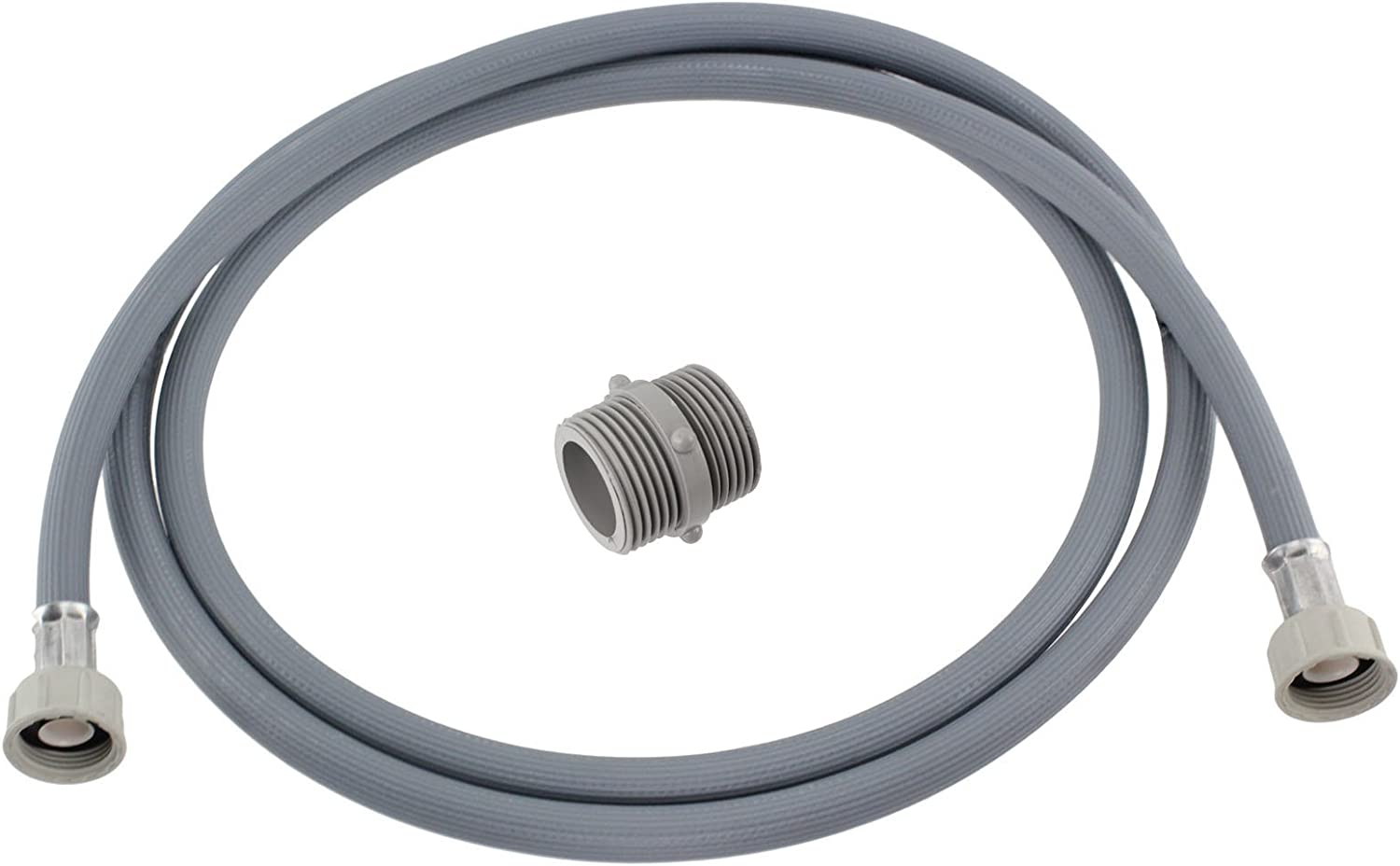 Straight End Fill Hose Inlet Extension For Essentials Washing Machine 2.5m