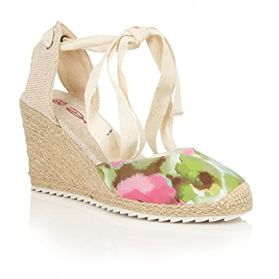 85f236762b2 Dolcis Wedge Sandals Happy Green  Amazon.co.uk  Shoes   Bags