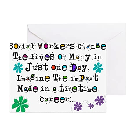 Amazon.com : CafePress - Social Worker Quote Greeting Cards ...