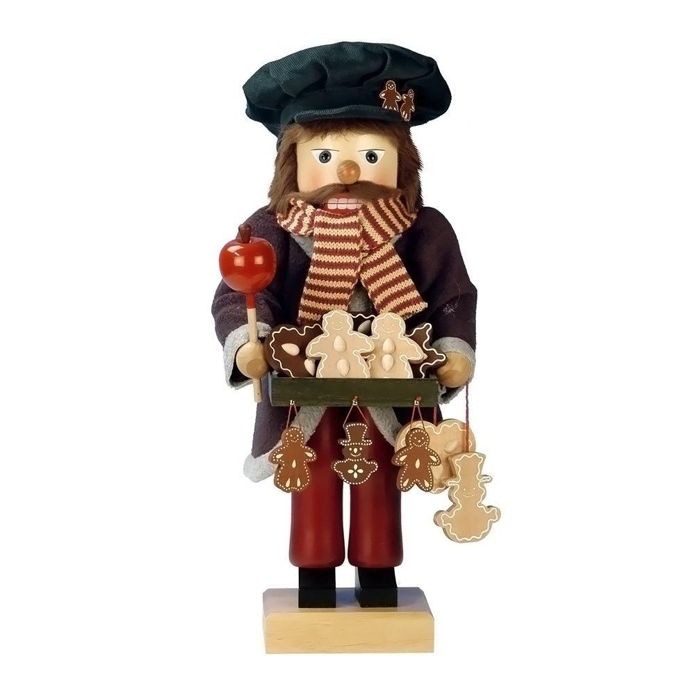 0-385 - Christian Ulbricht Nutcracker - Gingerbread Vendor - Ltd Edition 1000 pcs - 18''''H x 7.5''''W x 7.5''''D