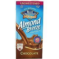 Blue Diamond Breeze Unsweetened Chocolate, 32-ounces (Pack of6)