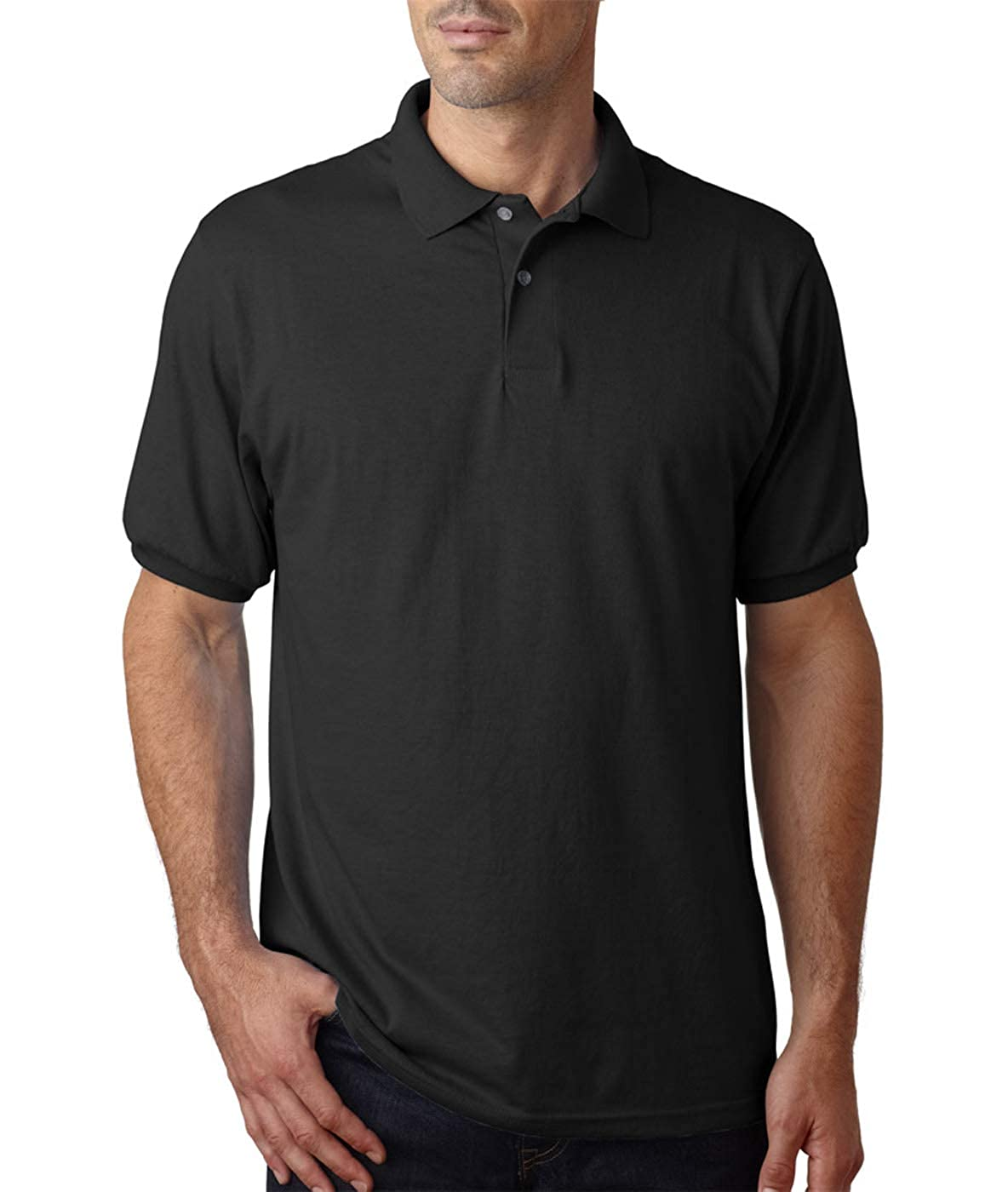 Hanes Cotton-Blend Jersey Mens Polo