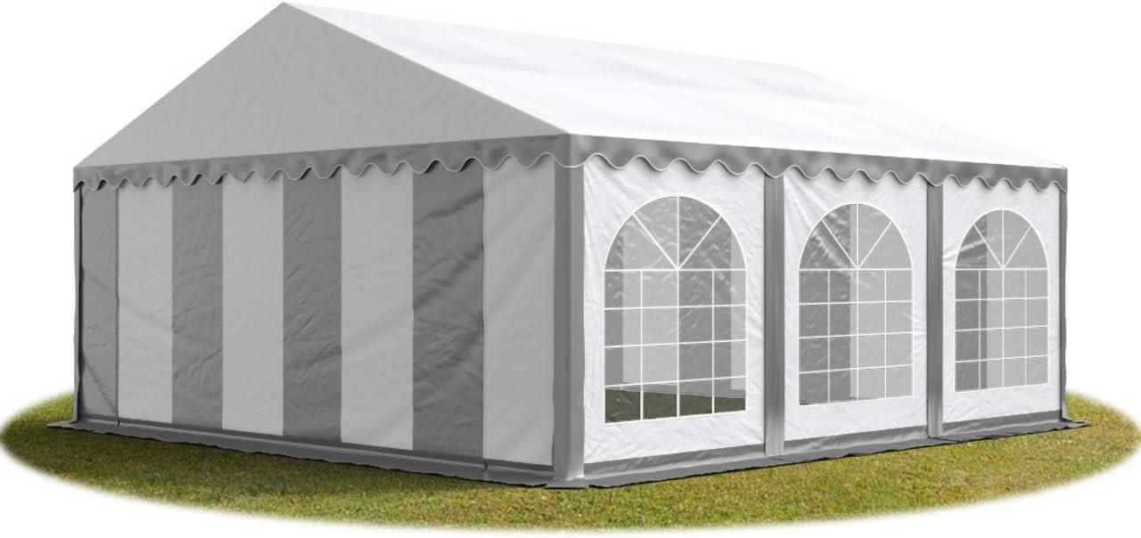TOOLPORT Carpa de Fiesta 6x6 m Lona PVC 500/m² 100% Impermeable con Estructura de Suelo Blanco grisáceo: Amazon.es: Jardín