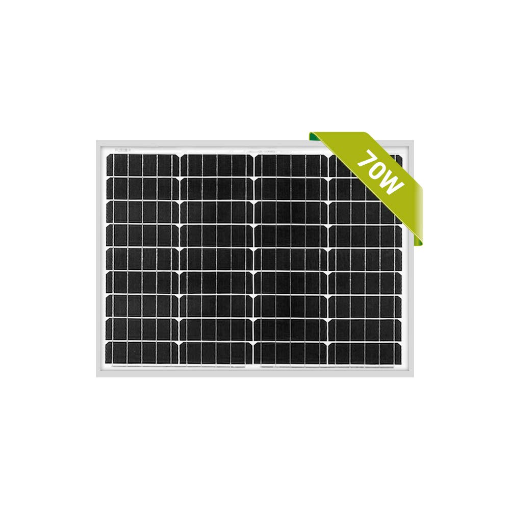 Newpowa 70W Mono Solar Panel 70 Watts Monocrystalline for RV,Boat,Home Off Grid System with MC4