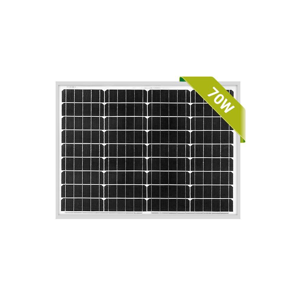 Newpowa 70W Mono Solar Panel 70 Watts Monocrystalline for RV,Boat,Home Off Grid System with MC4 by Newpowa