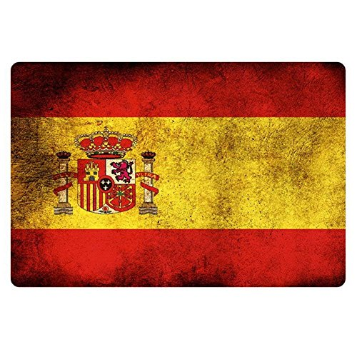 ACD&TV slip mat Flag of Spain Designs Doormat Bathroom Kitchen Floor Mats by ACD&TV slip mat