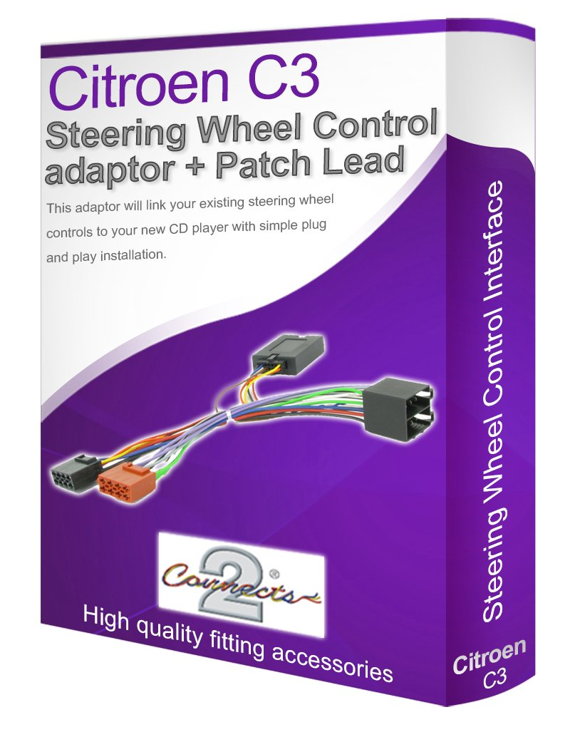 Citroen C3 Radio Stereo Wiring Harness Adapter Lead Aftermarket Car Connect Your Steering Wheel Stalk Controls