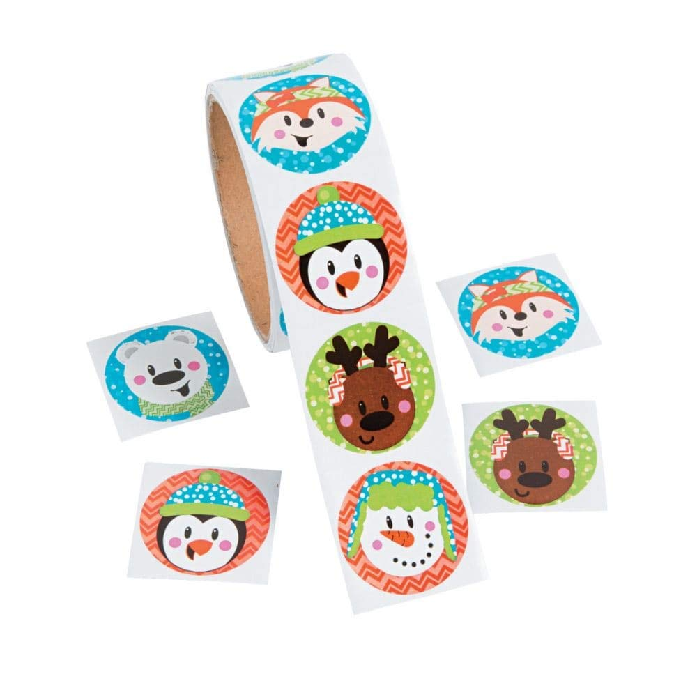 Fun Express Christmas Holiday Characters Stickers 1 Roll