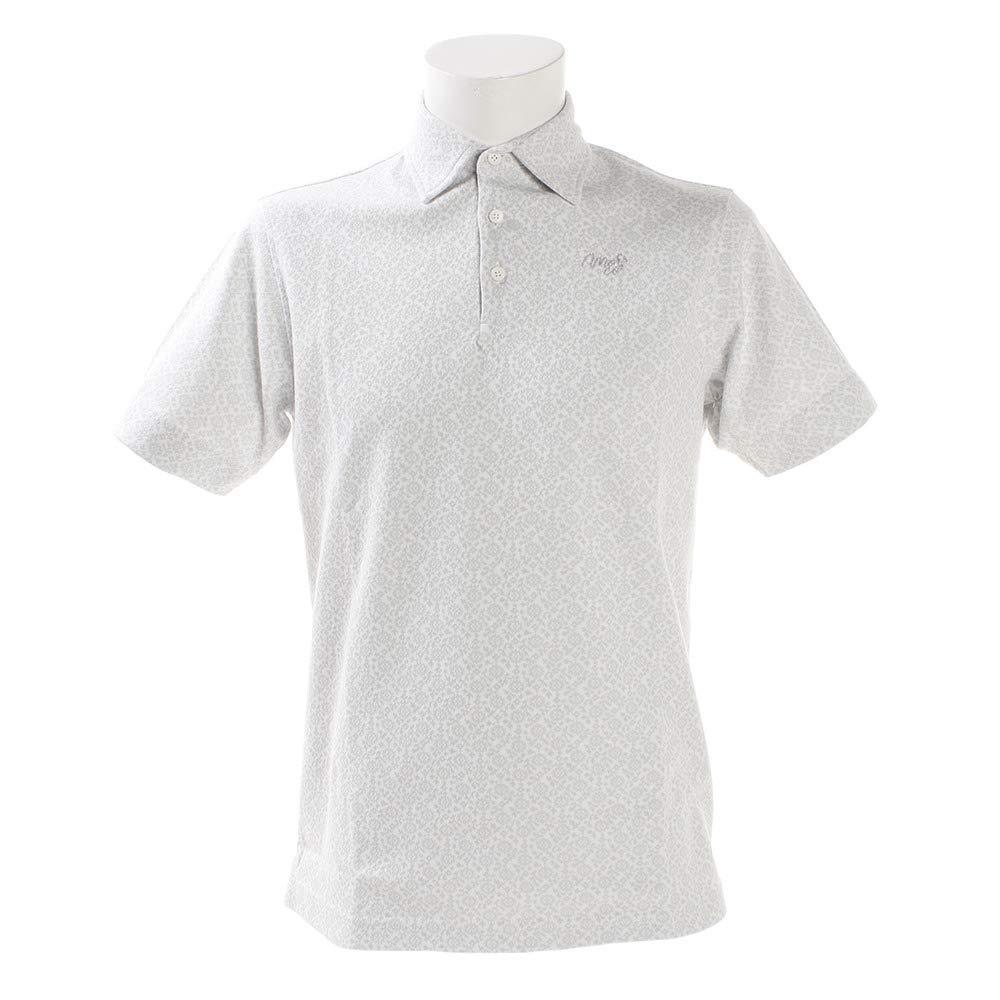 モコ MOCO 半袖シャツポロシャツ サラサフラワー半袖ポロシャツ M オフホワイト B07PT87WF8