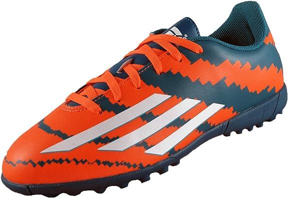 adidas Performance Kids Messi 10.4 Turf Football Boots Trainers - Orange/Teal
