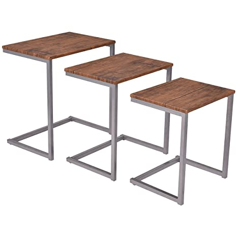 Charmant Giantex 3PC Stacking Nesting Coffee End Table Set Living Room Modern Home  Furniture
