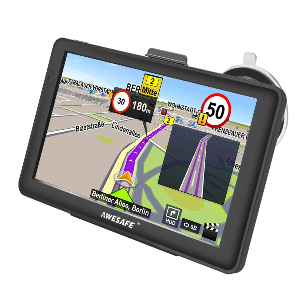 GPS Navigation for Car, AWESAFE 7 inches Capacitive Touch Screen Navigation System for Cars Lifetime Updates North America Map 8GB AS-CA-N-A1