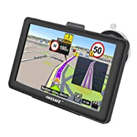 GPS Navigation for Car, AWESAFE 7 inches Capacitive Touch Screen Navigation System for Cars Lifetime Updates North America Map 8GB