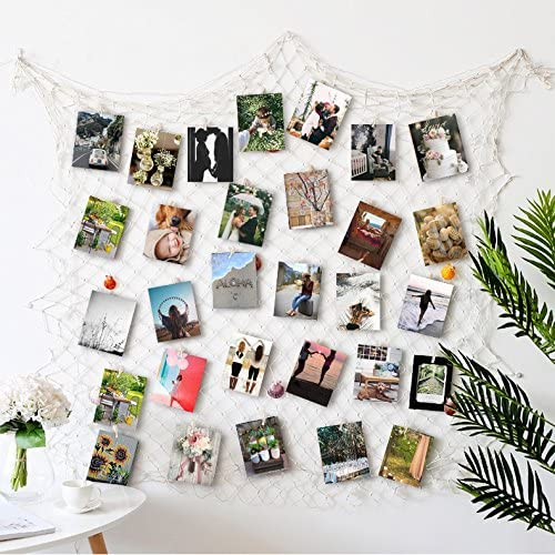 Amazon Com Hayata Photo Hanging Display With 40 Clip Fishing Net