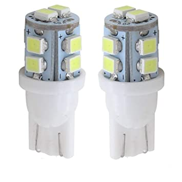 12 V T10 Sidelight Bulbs W5W Pack of 2 Super Bright 5 SMD 501 8 W