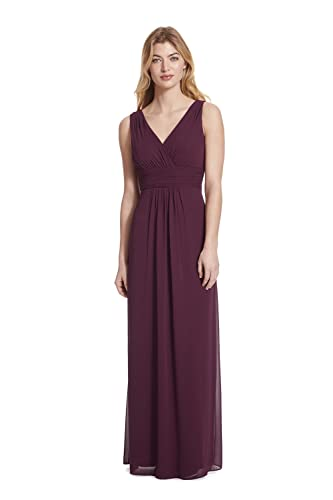 Samantha Paige V-Neck Sleeveless A-Line Floor Length Chiffon Formal Dress