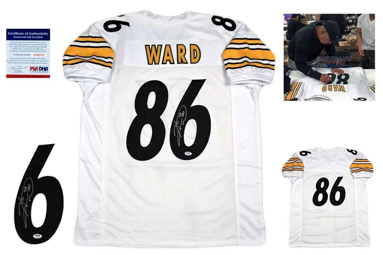 half off 27a39 ae59d Hines Ward Autographed Signed Custom Jersey - PSA/DNA ...