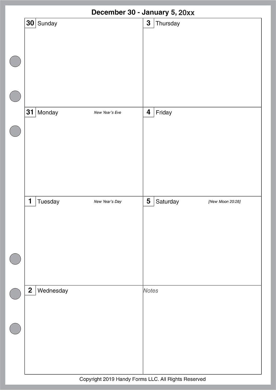 Amazon.com: 1 página por semana planificadores y ...