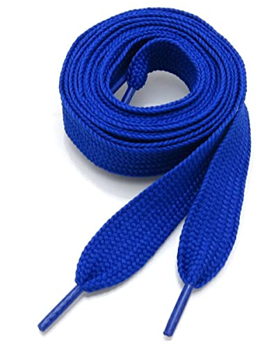 75902a0a31fef Shoe Laces Flat Thick - 50 Inches Long - Blue (Royal)