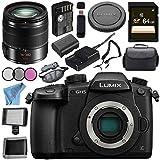 Panasonic Lumix DC-GH5 (DC-GH5KBODY) Mirrorless Micro Four Thirds Digital Camera Lumix G Vario 14-140mm f/3.5-5.6 ASPH. POWER O.I.S. Lens (Black) Bundle