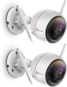 EZVIZ 2 Pack ezGuard Full HD 1080p Indoor/Outdoor Wi-Fi All-in-One Smart Home Security Bullet Camera