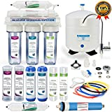 Global Water RO-507 5-Stage Reverse Osmosis System Water Quality Filter- CLEAR housing - 24 HOUR USA Tech Support - Plus Extra Set Of 4 Filters For Free