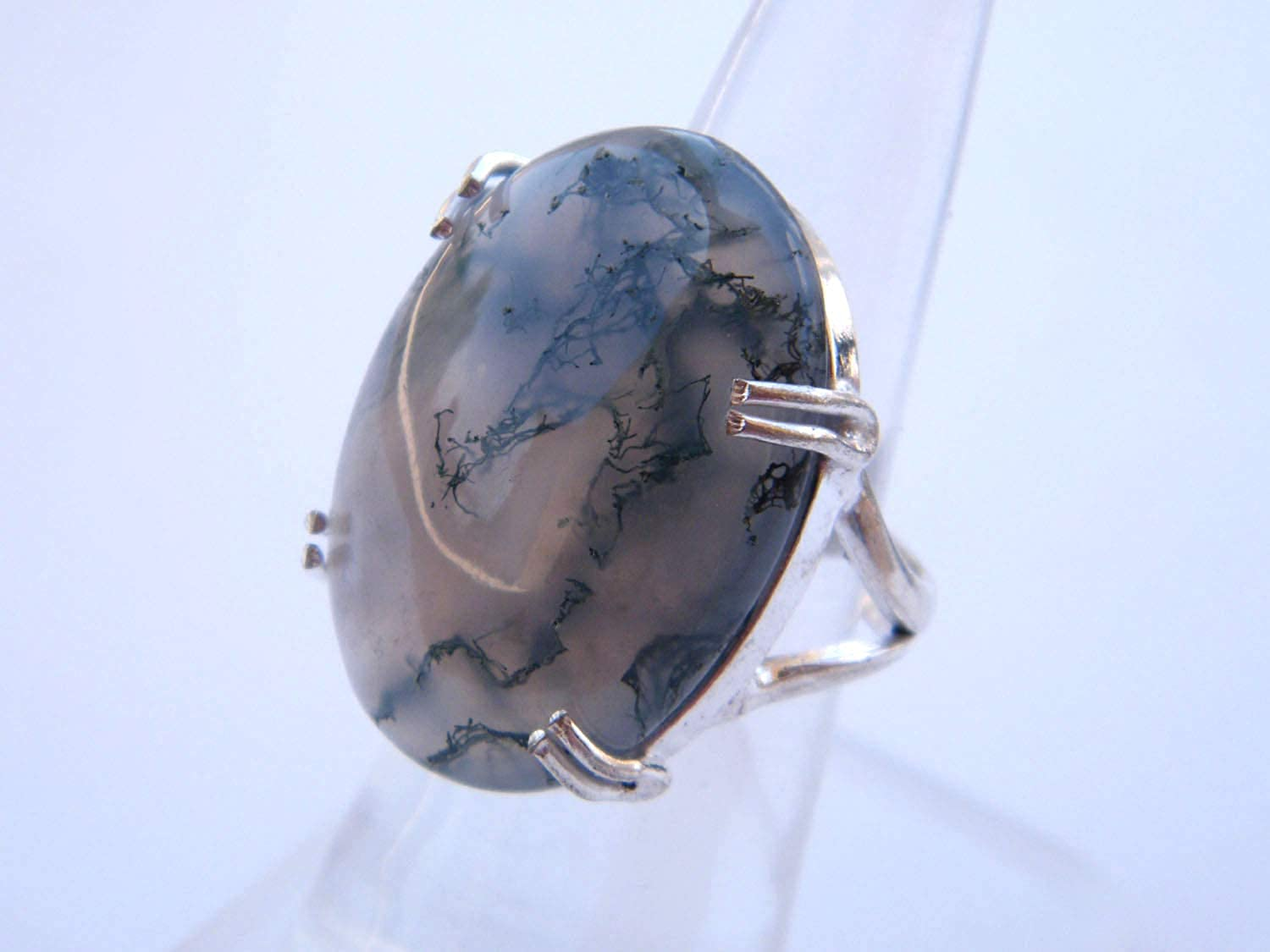 Women Jewelry, Handmade Ring Size- 7 USA Silver Plated Ring BRS-4933 Thebestjewellery Moss Agate cabochon Ring