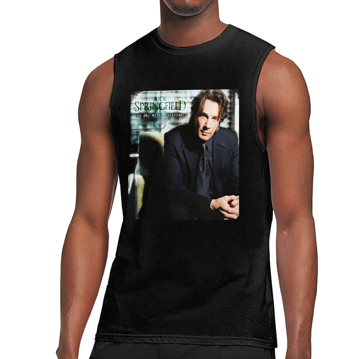 Rick Springfield The Day After Yesterday Man Classic Comfort Leisure Sleeveless Tshirt Bla