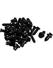 uxcell® uxcell 20 Pcs 9mm Hole Retainer Clips Plastic Drive Rivets Mud Flaps Bumper Fender Push Clips