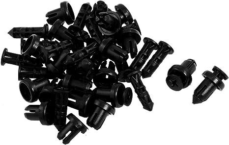 20 x 9mm rivet de fixation en plastique pour les pare-chocs de voiture Noir R TOOGOO