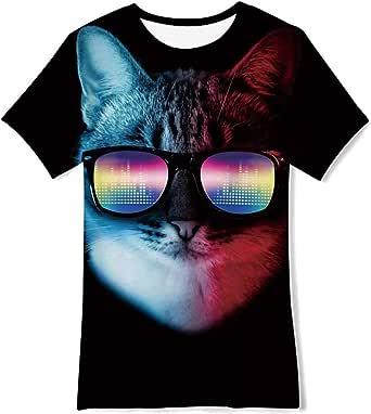 NEWISTAR Camiseta de verano con diseño gráfico en 3D para niños de 6 a 13 años