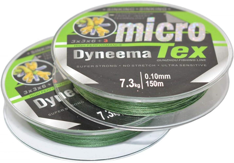 /Ø 0,08 0,35mm Neco Geflochtene Angelschnur Dyneema Micro Tex L/änge 100M Tragkraft 6,70 35,30KG