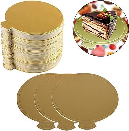 Tableros Redondos Para Tartas Base De Pastel Dorado Torta Bandeja De Visualizaci/ón De Postres Bases De Cart/ón Para Tartas Bodas Pr/áctico Y Conveniente Redondo Y Cuadrado 4 6 8 10 Pulgadas 8 Piezas