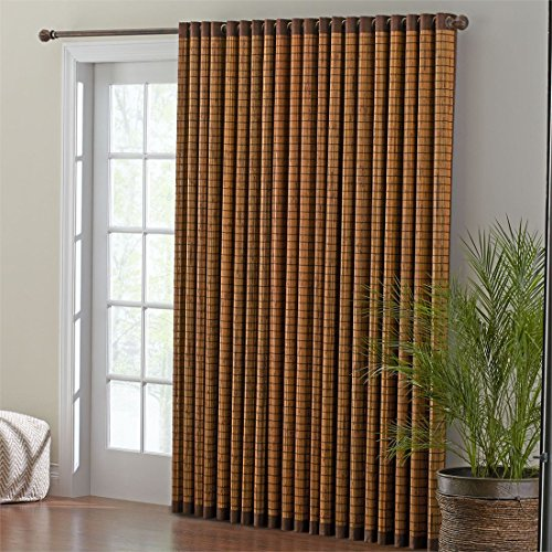 BrylaneHome Bamboo Grommet Panel (Honey Oak Brown,42