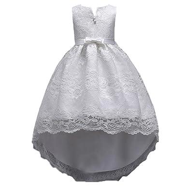 bf3bdc99ca66b Rawdah Princesse Robe Fille Dentelle Arc Fermeture à Glissière Robe De  Soirée Mini Dress Enfant Bébé