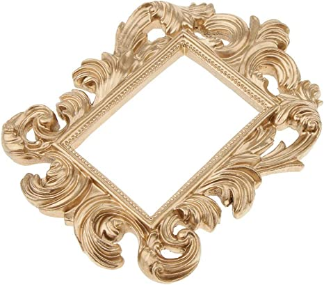 Amazon Com Gold Baroque Rectangle Resin Wall Door Frame Artistic Home Decor Wedding Favors Other