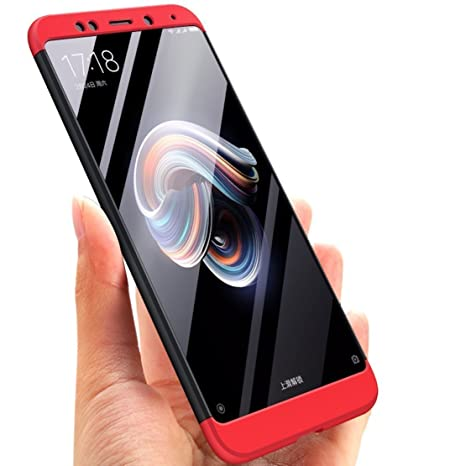 designer fashion a1bd5 d92fb casemantra™ Full Body 3-in-1 Double Dip Slim Fit Complete 3D 360 Degree  Protection Hybrid Hard Bumper Back Case Cover for XIAOMI REDMI Note 5 Pro  ...