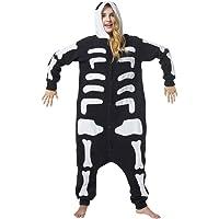 Katara-Kigurumi (2 Modelos) Pijamas Disfraz Halloween Adultos Unisex Talla 145-155cm, color esqueleto, (S) (1744…