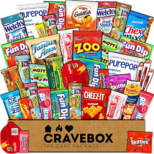 CraveBox - Care Package (40 Count) Snack Box