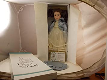 New Court Of Dolls 24quot Porcelain Doll Morgan Brown Eyes Real Lashes Stand