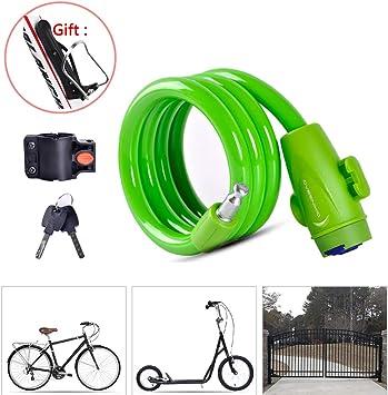 Candado Bicicleta alta Seguridad,Candado Moto Bici Cable con ...